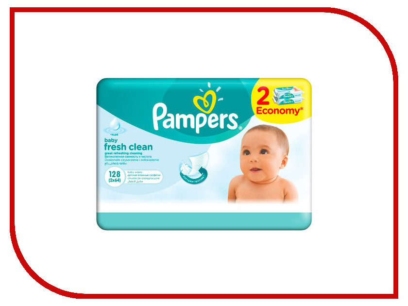 Салфетки Pampers Fresh Clean Duo 2x64 4015400439202<br>
