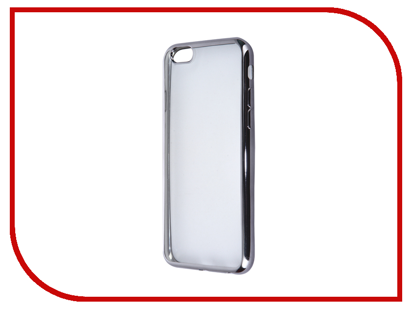 Аксессуар Чехол SkinBox Silicone Chrome border 4People для APPLE iPhone 6/6S Black T-S-AI6-006<br>