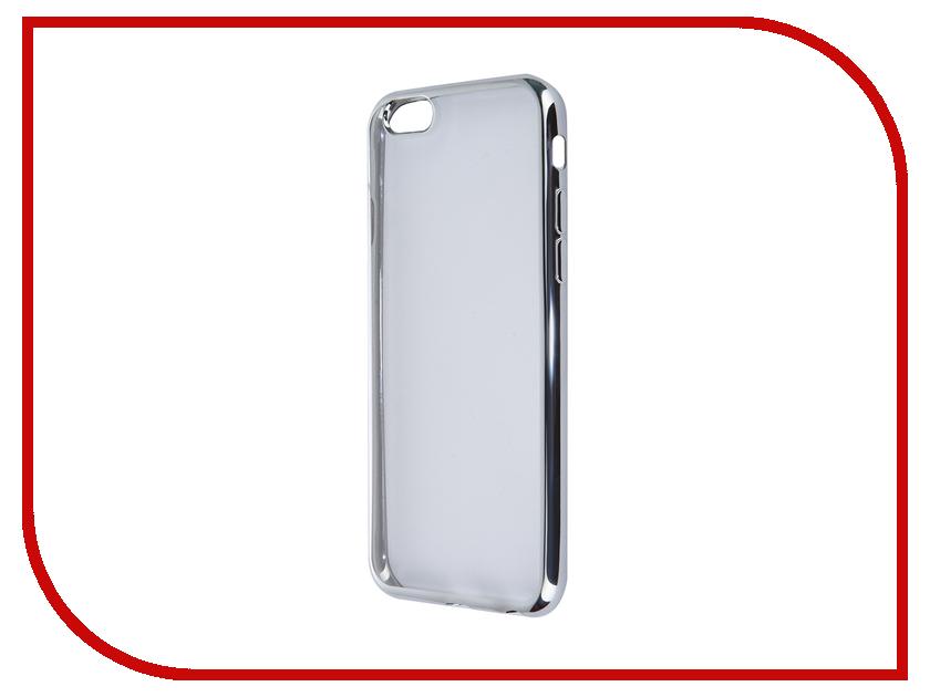 Аксессуар Чехол SkinBox Silicone Chrome border 4People для APPLE iPhone 6/6S Silver T-S-AI6-006<br>