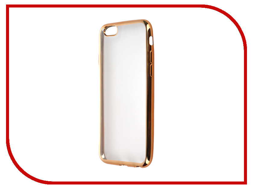 Аксессуар Чехол SkinBox Silicone Chrome border 4People для APPLE iPhone 6/6S Gold T-S-AI6-006<br>