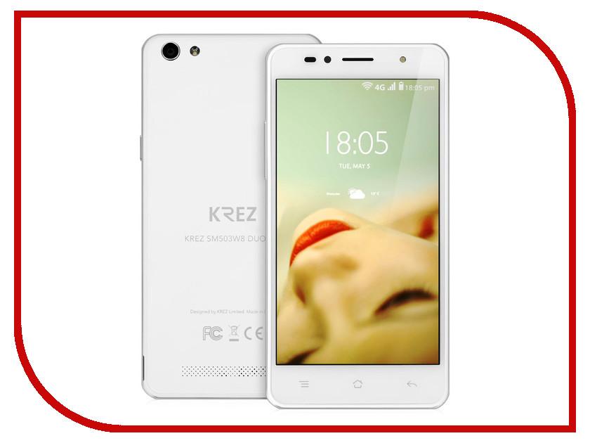 Сотовый телефон KREZ SM503W8 DUO LTE White<br>