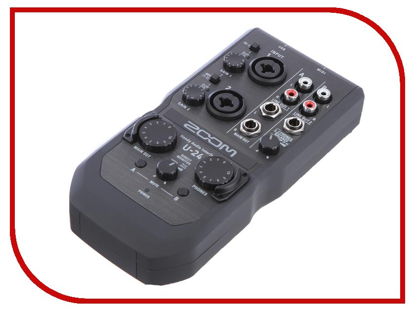 Аудиоинтерфейс Zoom U-24 аудиоинтерфейс zoom tac 8