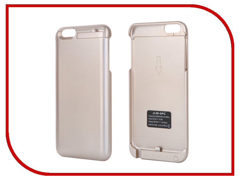 Аксессуар Чехол-аккумулятор Aksberry 6PC 4000 mAh для iPhone 6 Plus Gold