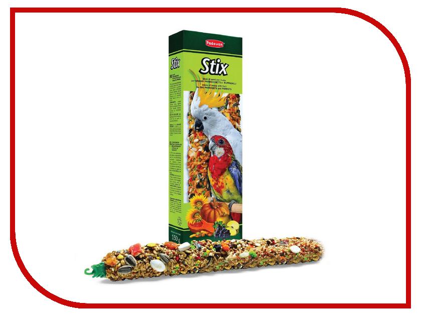 Корм Padovan Stix Parrocchetti / Pappagalli Лакомые палочки фруктово-зерновые 150g для попугаев<br>
