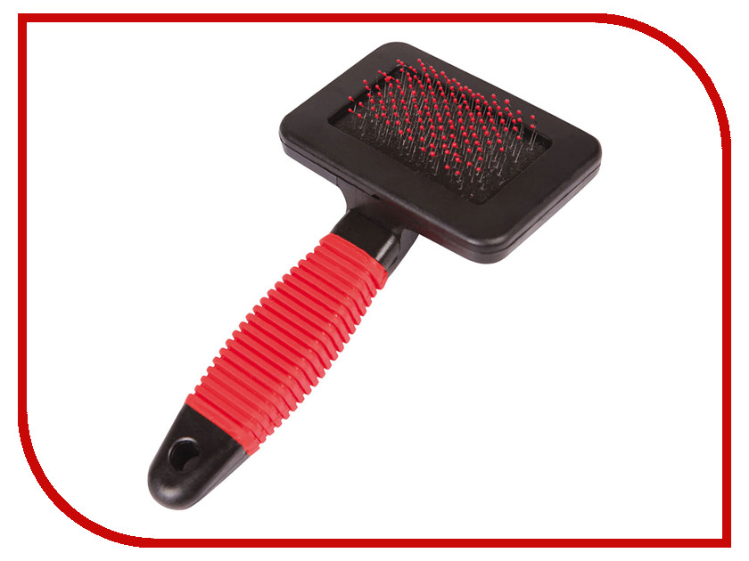 Расческа для животных DEZZIE Щётка-пуходерка для собак Red-Black 5618000<br>
