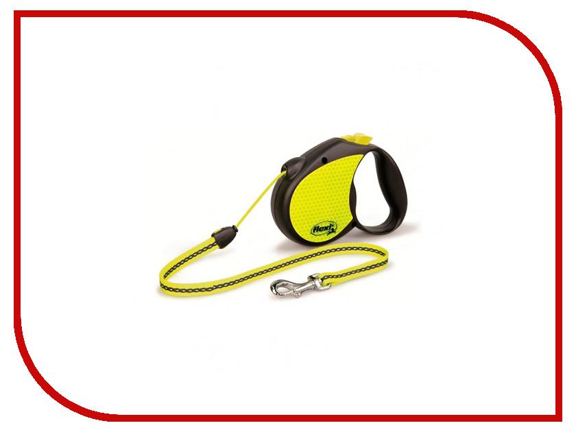 Рулетка FLEXI Neon Reflect 2 Medium 5м до 20кг Black 279.526