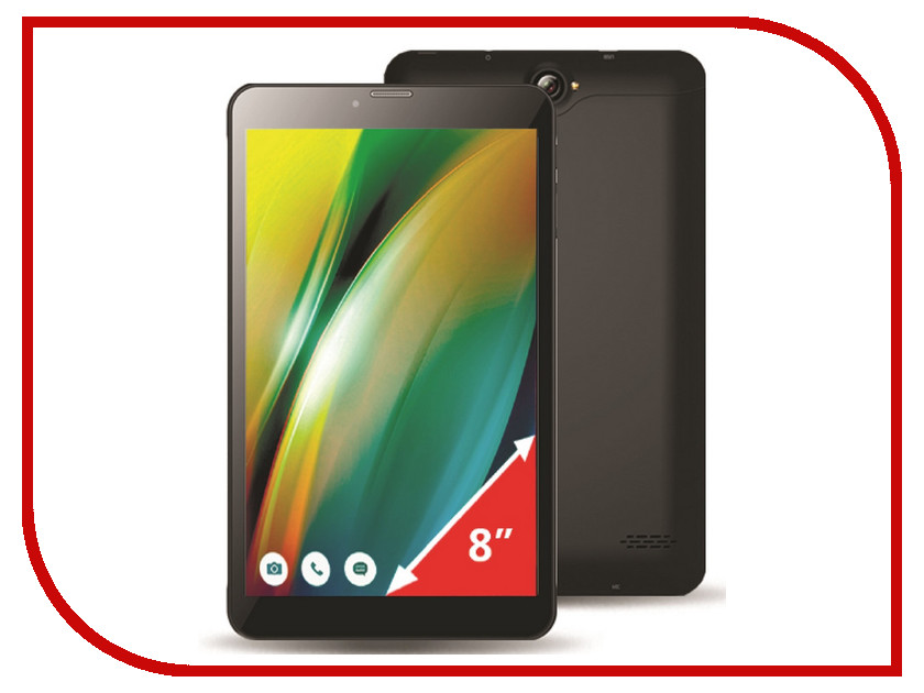 Планшет Ginzzu GT-8010 Black (Spreadtrum SC9830 1.3 GHz/1024Mb/16Gb/LTE/GPS/Cam/8/1280x800/Android)