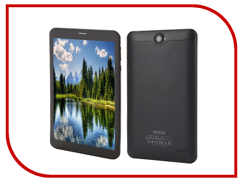 Планшет Ginzzu GT-8010 Blue (Spreadtrum SC9830 1.3 GHz/1024Mb/16Gb/LTE/GPS/Cam/8/1280x800/Android)