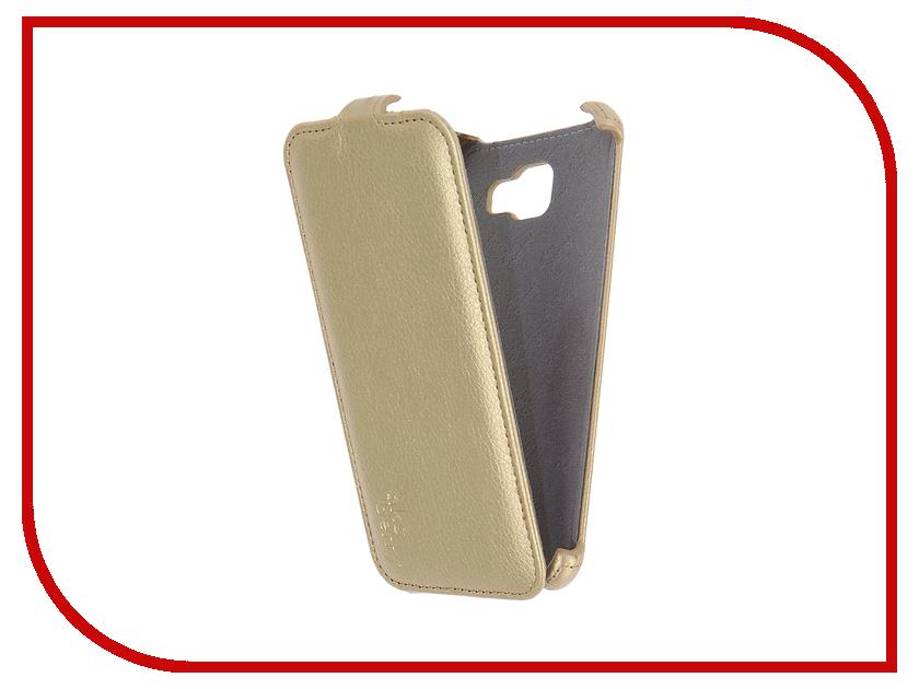 Аксессуар Чехол Samsung SM-A710F Galaxy A7 2016 Aksberry Gold<br>