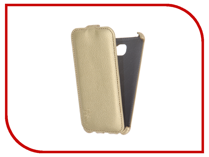 Аксессуар Чехол Samsung SM-A510F Galaxy A5 2016 Aksberry Gold pu leather pc wallet style flip open case card slots for 4 7 iphone 6 army green