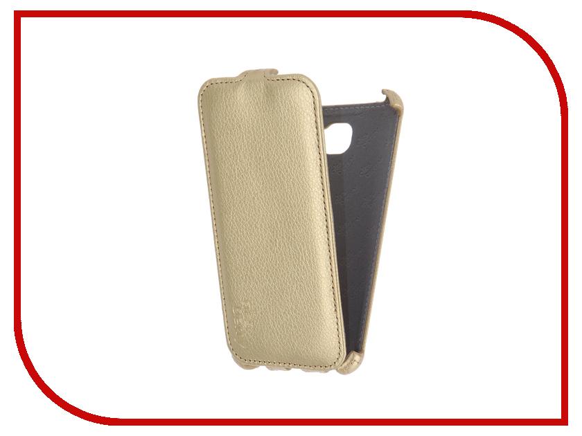 Аксессуар Чехол Samsung SM-A510F Galaxy A5 2016 Aksberry Gold радиотелефон panasonic kx tg8551ruw белый