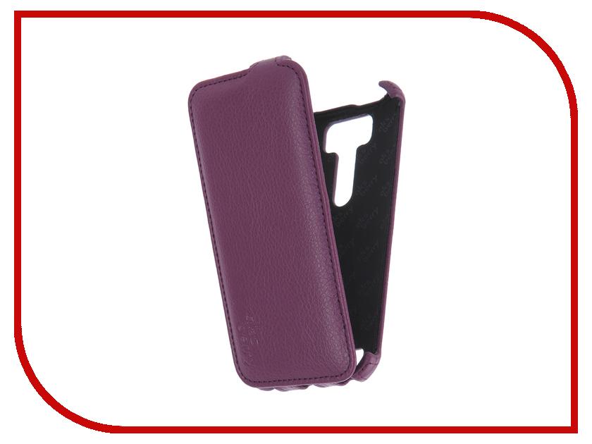 Аксессуар Чехол ASUS ZenFone 2 Laser ZE500KL Aksberry Violet смартфоны asus смартфон zenfone 2 laser ze550kl 32gb чёрный
