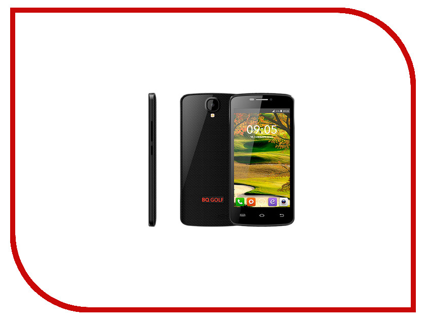 Сотовый телефон BQ BQS-4560 Golf Black<br>