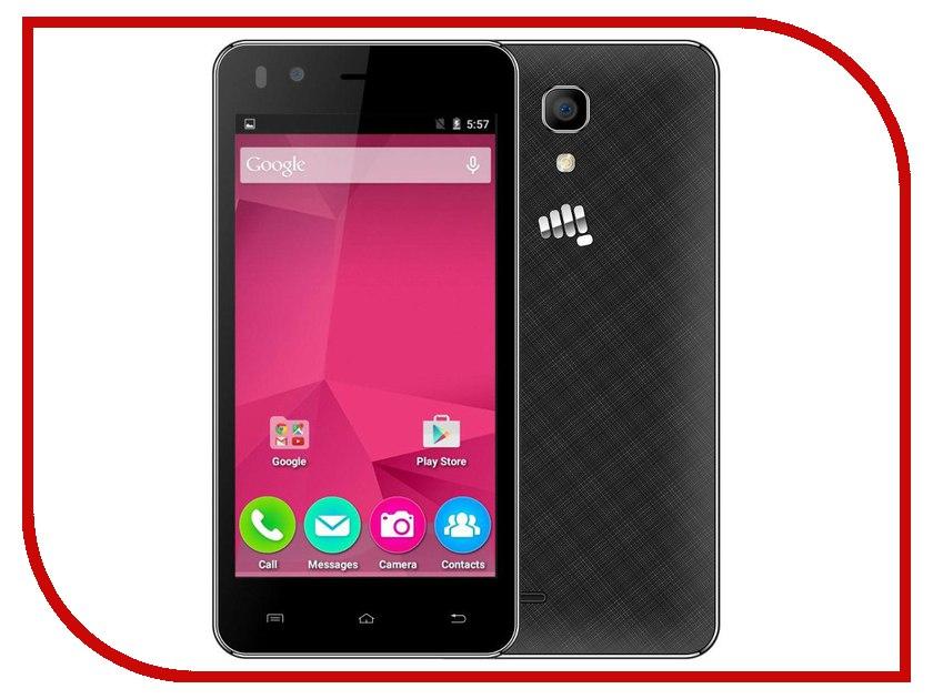 Сотовый телефон Micromax Bolt Q424 Black смартфон micromax bolt q346 lite 3g 8gb blue