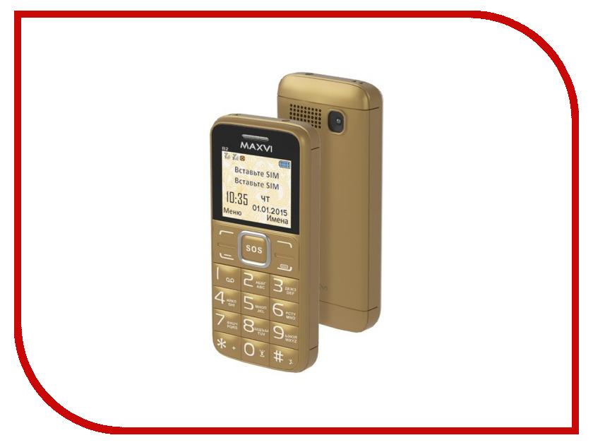 Сотовый телефон Maxvi B2 Gold<br>