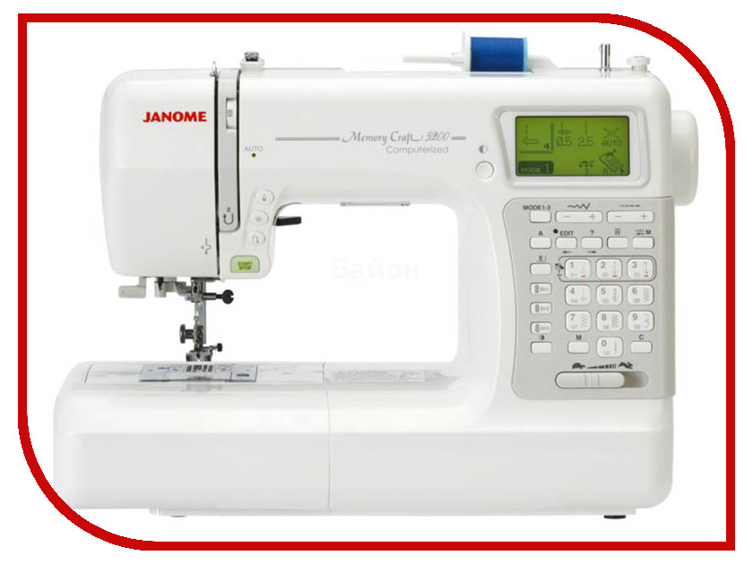 Швейная машинка Janome Memory Craft 5200  janome horizon memory craft 8200 qc
