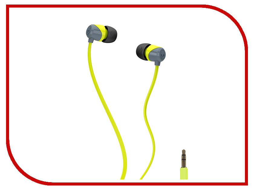 Наушники Skullcandy Jib Lime Grey S2DUFZ-385<br>
