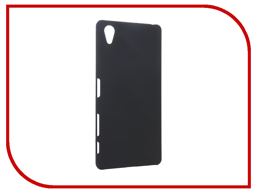 Аксессуар Чехол Sony Xperia X BROSCO пластиковый Black X-SOFTTOUCH-BLACK