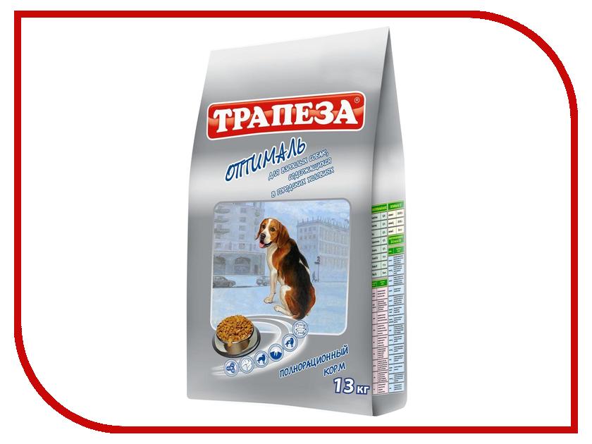 Корм Трапеза Оптималь 13kg для собак 29750/701351 корм сухой трапеза био для собак с нормальной активностью 13 кг