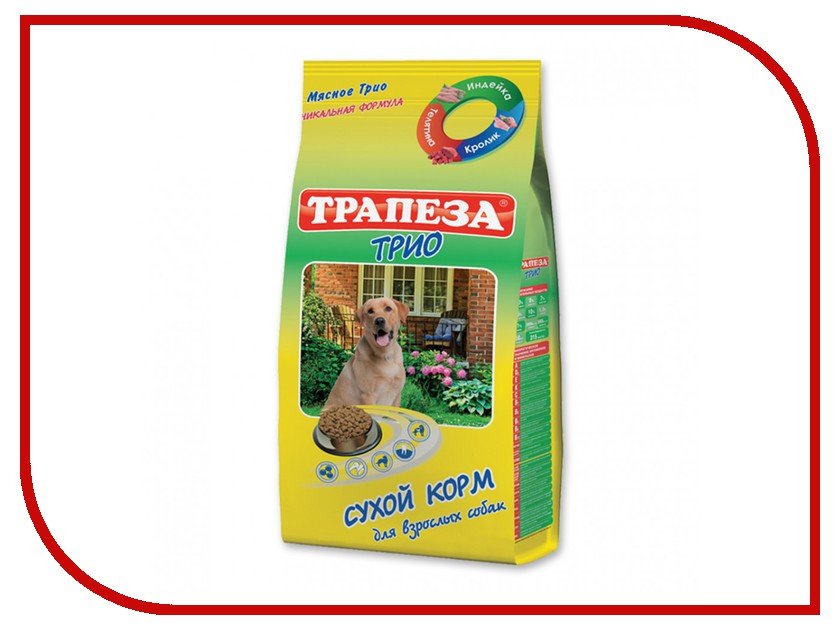 Корм Трапеза Трио Индейка/Кролик/Телятина 13kg для собак 201003055<br>