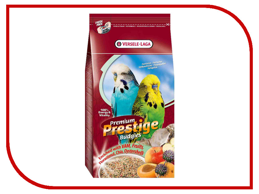 Корм Versele-Laga Premium Budgies 1kg для волнистых попугаев 271.14.4216880/421688