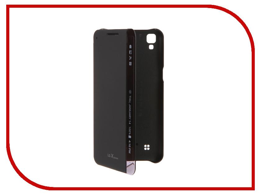 Аксессуар Чехол LG K220 FlipCover Indigo Black LG-CFV-230.AGRAIB<br>