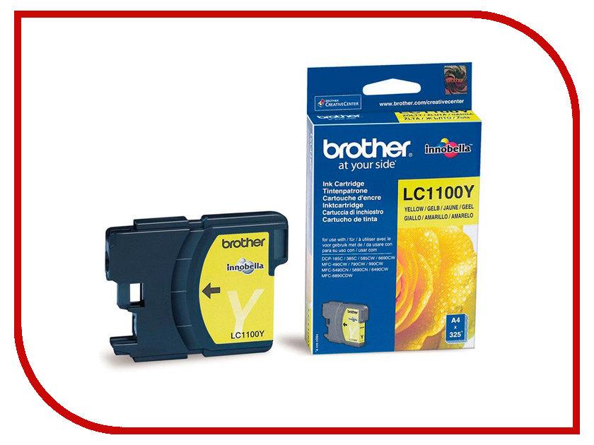 Картридж Brother LC1100Y Yellow для DCP-385C/DCP-6690CW/MFC-990CW