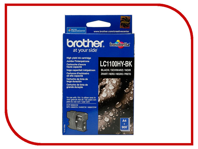 Картридж Brother LC1100HYBK Black для DCP-6690CW/MFC-5890CN/MFC-5895CW/MFC-6490CW/MFC-6890CDW мфу brother mfc l2700dnr