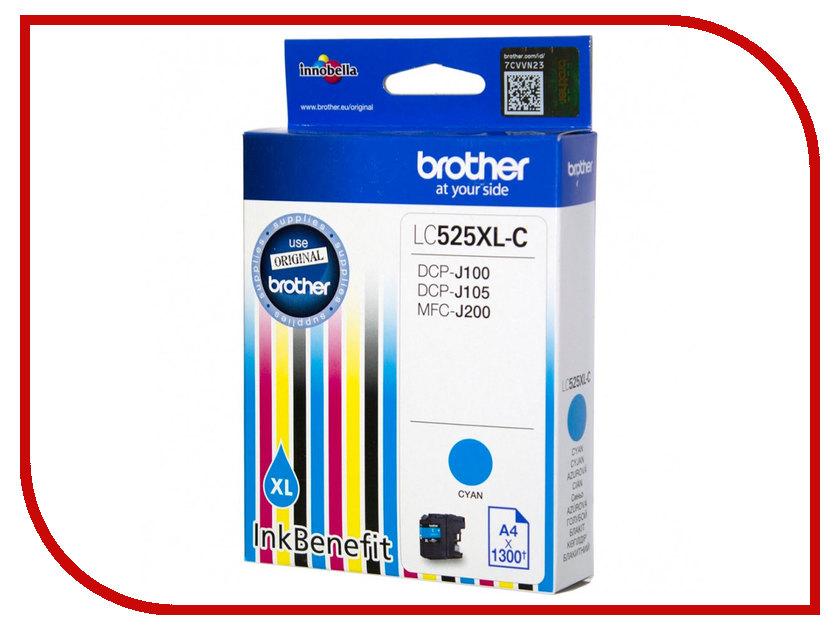 Картридж Brother LC525XLC Cyan для DCP-J100/DCP-J105/MFC-J200