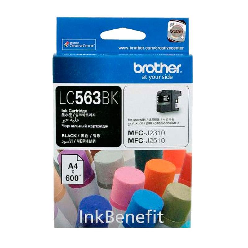 Картридж Brother LC563BK Black для MFC-J2510/MFC-J2310/MFC-J3720/MFC-J3520 картридж brother lc565xly yellow для mfc j2510 mfc j2310 mfc j3720 mfc j3520