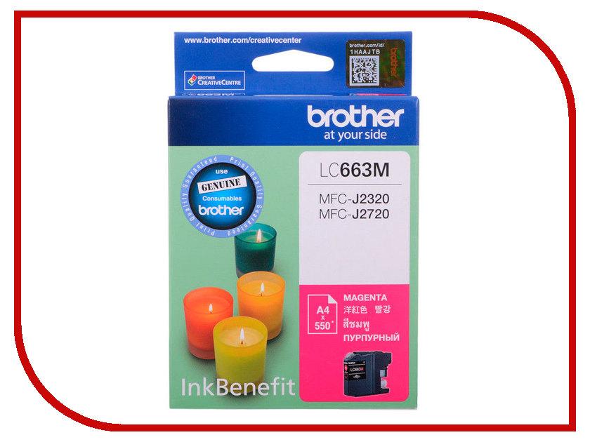 Картридж Brother LC663M Magenta для MFC-J2320/MFC-J2720