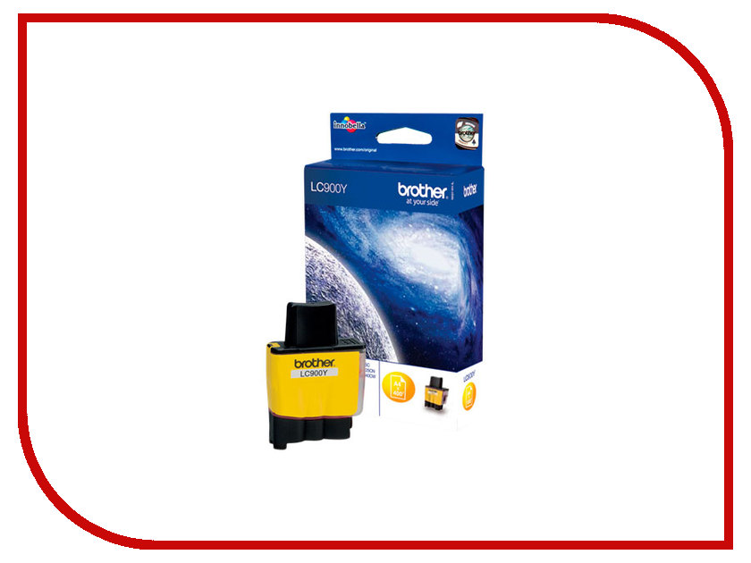 Картридж Brother LC900Y Yellow для DCP110/115/120/MFC210/215/425CN/FAX-1840C<br>
