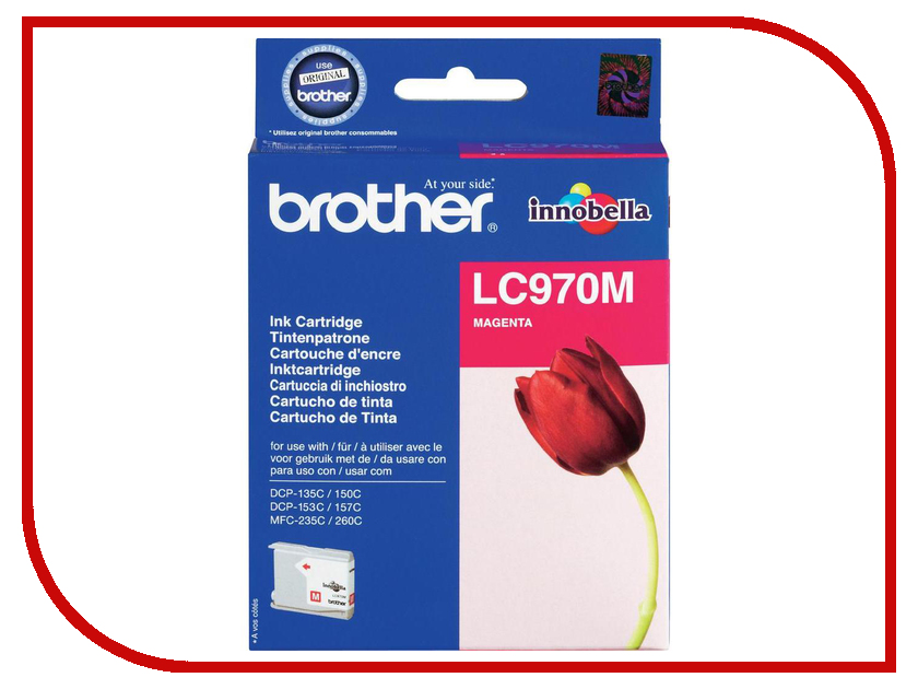 Картридж Brother LC970M Magenta для DCP-135C/150C/MFC-235C/260C<br>