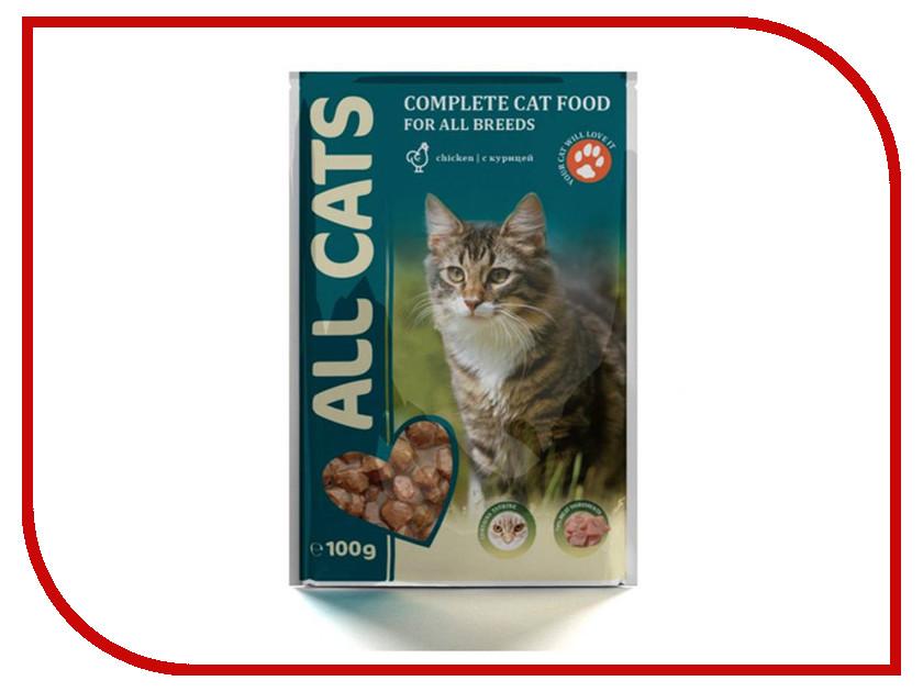 Корм ALL CATS Говядина в соусе 100g для кошек 6691