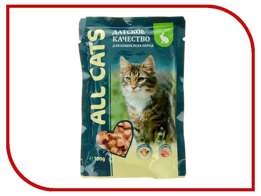 Корм ALL CATS Кролик в соусе 100g для кошек 7025
