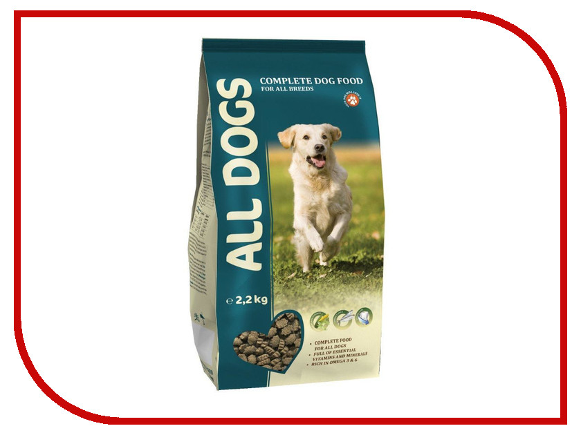Корм ALL DOGS Полнорационный 2.2kg 6721<br>