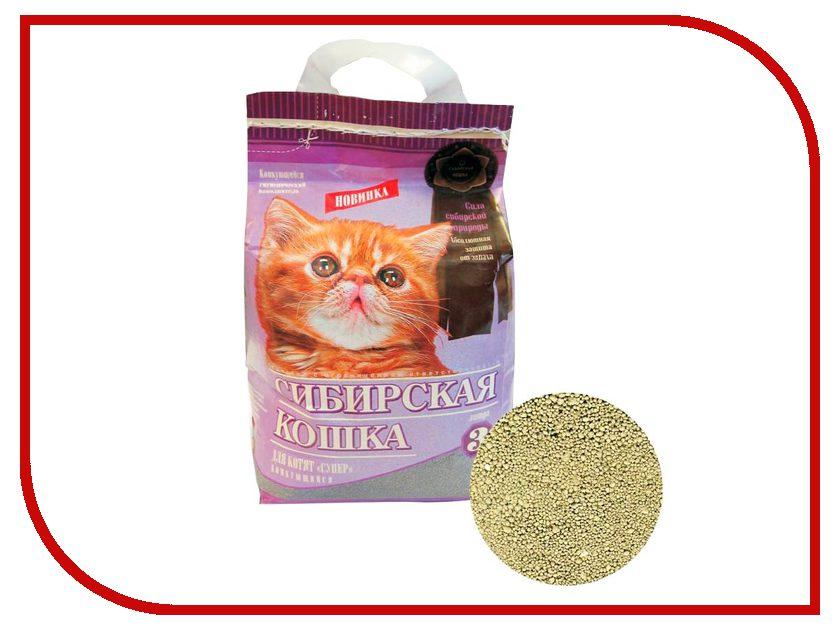 Наполнитель Сибирская Кошка Супер комкующийся 3l 1371 для котят<br>