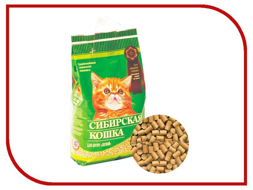 Наполнитель Сибирская Кошка Лесной 5l 0404 для котят