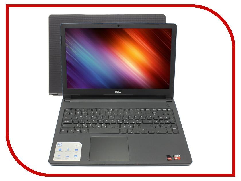 Ноутбук Dell Inspiron 5555 5555-5315 AMD A8-7410 2.2 GHz/8192Mb/1000Gb/DVD-RW/AMD Radeon R5/Wi-Fi/Bluetooth/Cam/15.6/1366x768/Linux 374861<br>