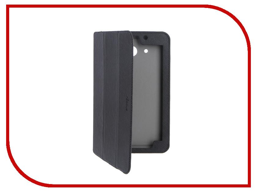 Аксессуар Чехол Samsung Galaxy Tab A 7.0 SMT-285 Snoogy иск. кожа Black SN-SGTA7-SMT285-BLK-LTH<br>