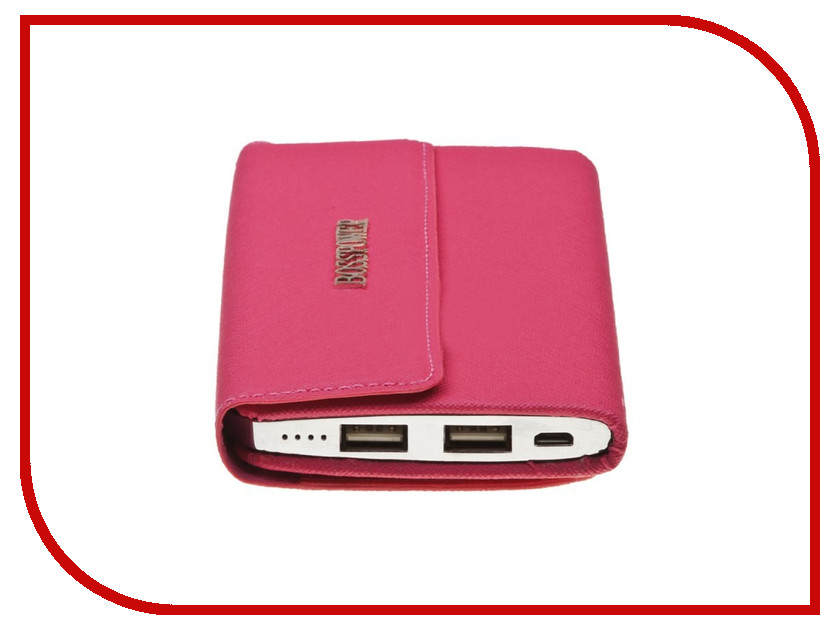 Аккумулятор Liberty Project Power Bank Wallet 8000 mAh 0L-00027443 Pink<br>