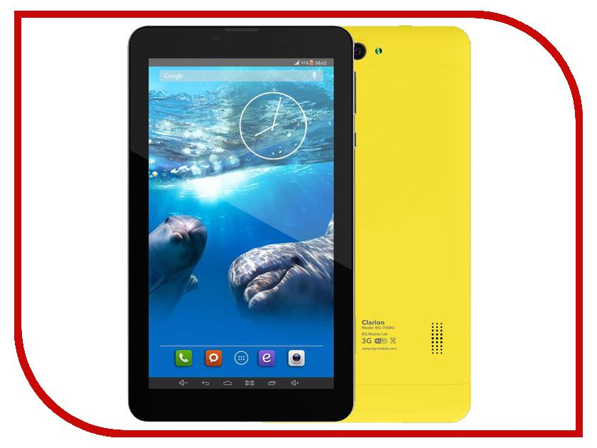 Планшет BQ BQ-7008G CLARION Yellow Spreadtrum SC5735 1.2 GHz/512Mb/4Gb/Wi-Fi/3G/Bluetooth/GPS/Cam/7.0/1024x600/Android