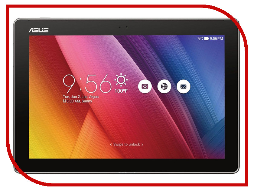 Планшет ASUS ZenPad 10 Z300M-6A056A Black 90NP00C1-M01660 (MTK8163 QC 1.3GHz/1024Mb/16Gb/Wi-Fi/Cam/10.1/1280x800/Android)
