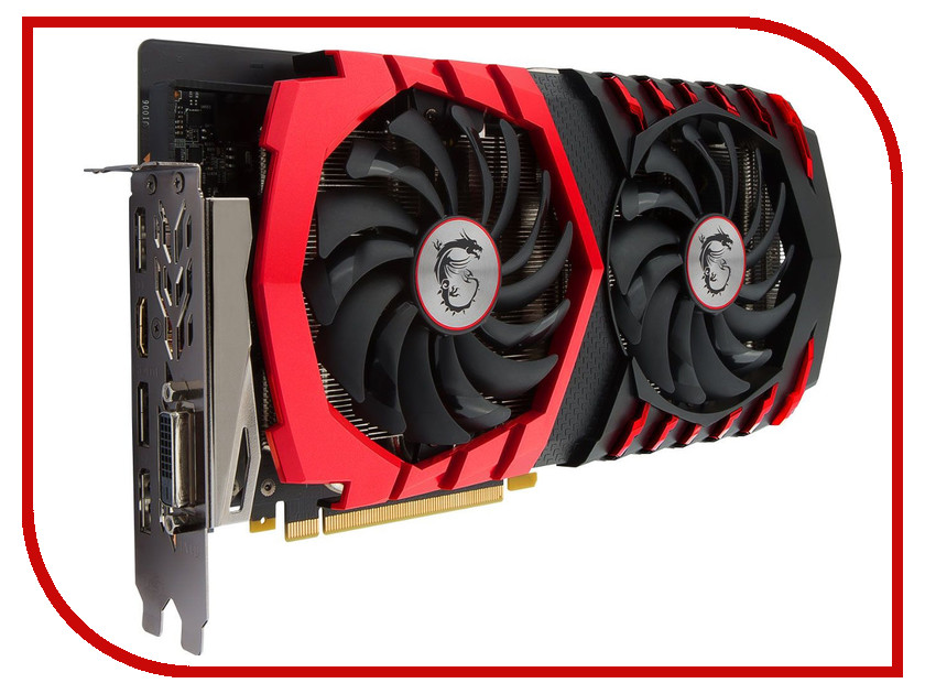 Видеокарта MSI GeForce GTX 1060 1506Mhz PCI-E 3.0 6144Mb 8000Mhz 192 bit DVI HDMI HDCP GTX 1060 GAMING X 6G