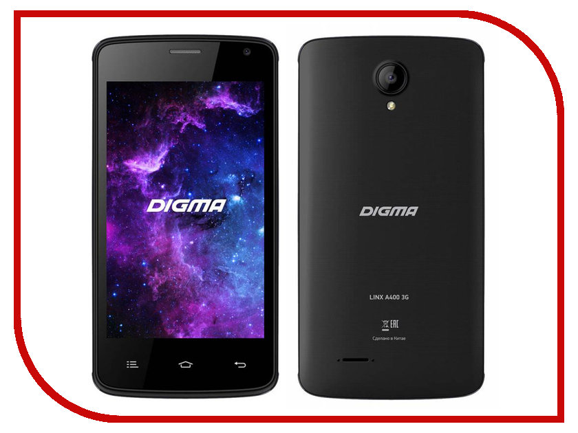 Сотовый телефон Digma Linx A400 3G Graphite digma linx a420 3g 4гб белый dual sim 3g