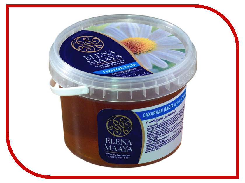 Домашний шугаринг Elena Maaya Сахарная паста с отваром ромашки Soft
