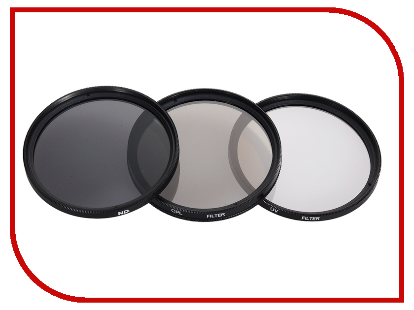 Zakazat.ru: Светофильтр Polaroid UV-CPL-ND8 52mm - набор фильтров PL3FILND52