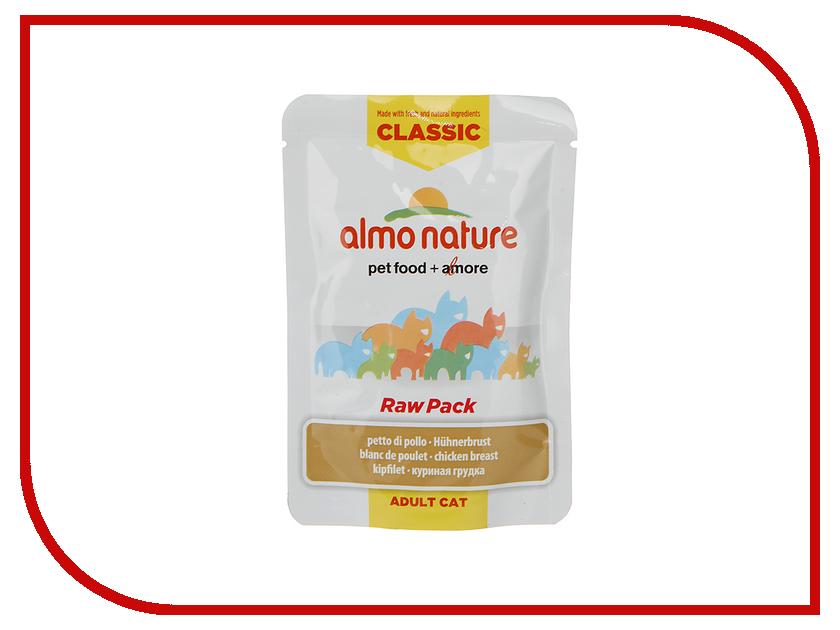 Корм Almo Nature Classic Raw Pack Пауч 75% мяса Куриная Грудка 55g для кошек 20467
