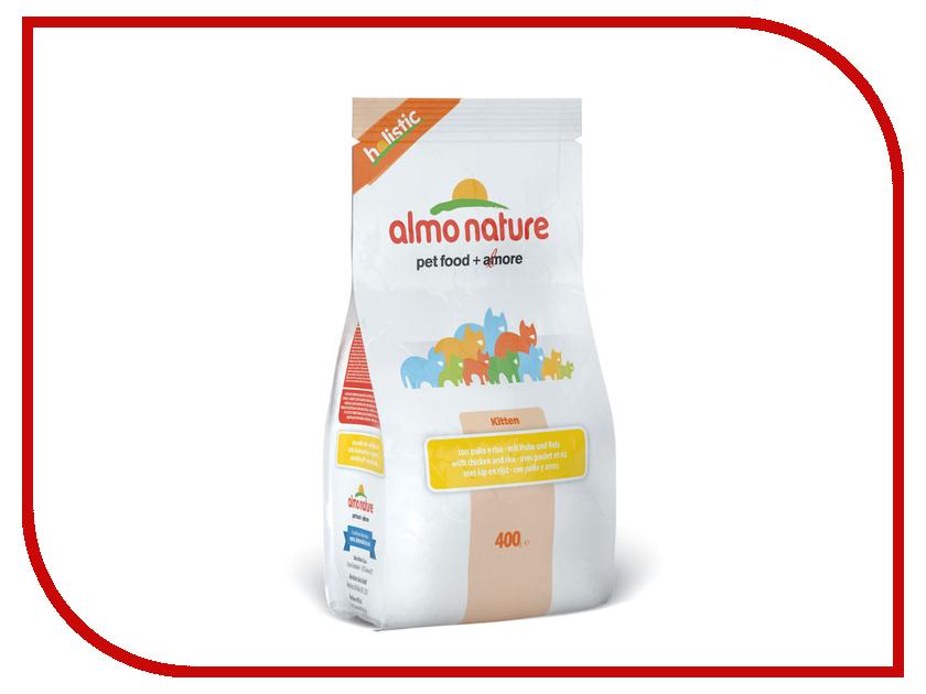 Корм Almo Nature Holistic с курицей и коричневым рисом 400g для котят 22585<br>