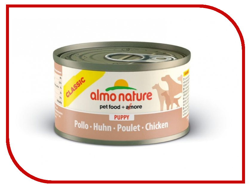 Корм Almo Nature Classic с курицей 95g для щенков 10177